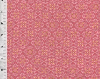 "Cranston ""Spring Blossoms"" Filigree Floral Pink Fabric"