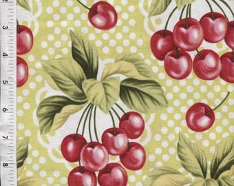 Michael Miller Cherry O Jubilee Lime Fabric