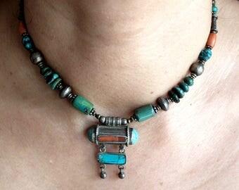 Antique Ghau Box Tibetan Necklace