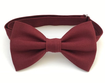 Burgundy Bow Ties - Bow Ties - Children's Bow Ties - Baby Bow Ties - Bow Tie for Baby - Bow Tie For Kids