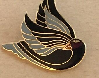 "Vintage Laurel Burch ""Celan"" Bird Brooch"