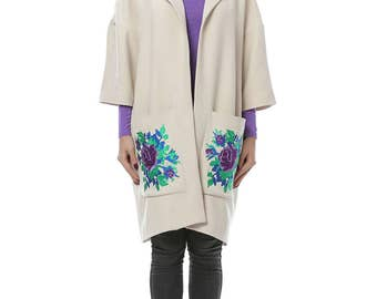 FREE SHIPPING Embroidered Coat
