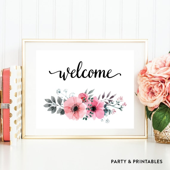 Instant Download, Welcome Printable Art, Welcome Wall Art, Welcome ...