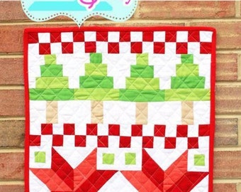 Fair Isle Mini Quilt Pattern by Quilt Story, Christmas Mini Quilt, Modern Christmas Mini Quilt, Ugly Sweater themed mini quilt