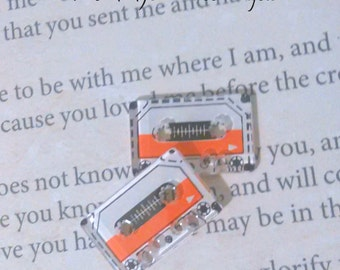 Mini Cassette Tape Stud Earrings READY TO SHIP