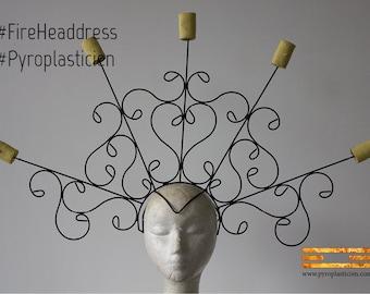 """Fire Headdress """"Jessica"""" #FireHeaddress"""