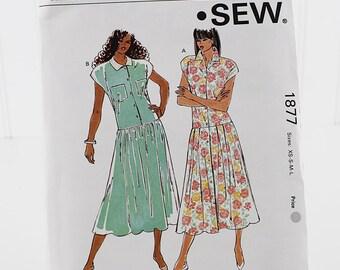 Misses Tops and Tunics, Uncut Sewing Pattern, Kwik Sew 1877, Size XS-L