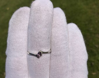 Size 10.25 Amethyst Sterling Silver Stacking Ring