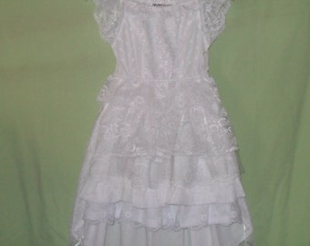Ready to Ship Little girls flower girl dress. Will fit Size 4-to a sz 5 With or without Burlap waist belt