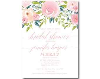 PRINTABLE Bridal Shower Invitation, Floral Bridal Shower Invitation, Printable Invitation, Bridal Shower, Bridal Shower Printable #CL281