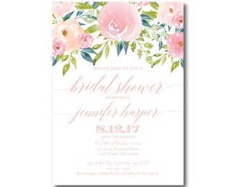 Bridal Shower Invitation, Floral Bridal Shower Invite, Printable Invitation, Printable Bridal Shower, Printable Invitation #CL281