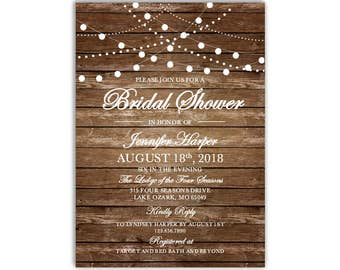 Bridal Shower Invitation Template, DIY Bridal Shower Invite, Cheap Invitation, Rustic Invitation, INSTANT DOWNLOAD Microsoft Word #CL101