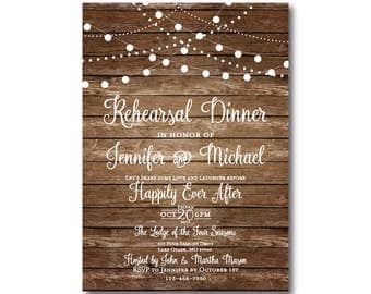 Rehearsal Dinner Invitation, Rustic Rehearsal Invitation, Rustic Wedding Rehearsal Invitation, Rustic Rehearsal Dinner Invite #CL101