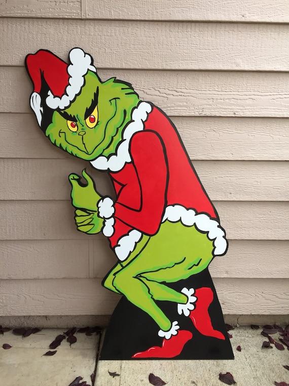 Grinch Cutout Wood Grinch Cutout Outdoor Grinch Christmas