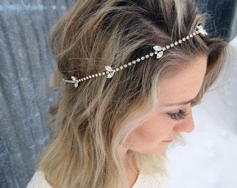 Swarovski Wedding Hairpiece, Bridal Hairpiece, Crystal Hairpiece, Samy Bridal Hairpiece, Rhinestone Bridal Hair Accessory