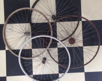 "Vintage Bike Wheel sizes 14""-17"""
