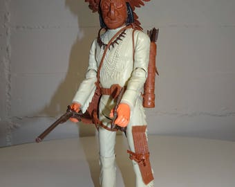 Vintage Marx Johnny West Geronimo Action Figure Doll with 18 Accessories - FREE SHIPPING