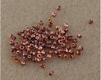FIRE POLISH Beads, TRUE 2mm, Etched Full Capri, 00030/27183, sold in units of 100.