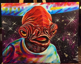 Its a trap!!! Admiral Ackbar - original - cavas