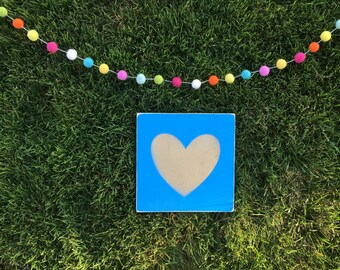 Gold Glitter Hearts; Wood Signs