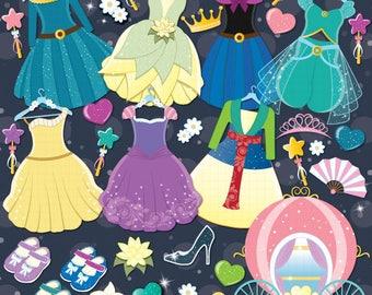 Princess Clipart, Costume party, Princess costumes, Princess dresses - PART 2