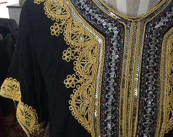 Vintage embroidered and sequin top