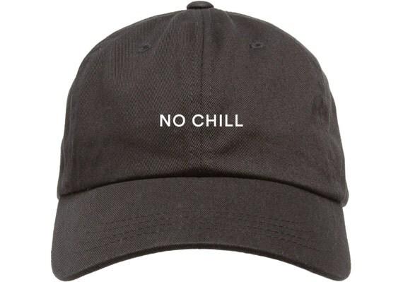 Black Dad Cap No CHILL Low Profile Hat