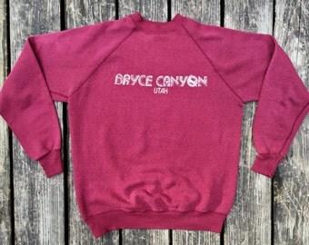 Vintage Sweatshirt, Poly Blend Sweatshirt, Size Large, 1980's