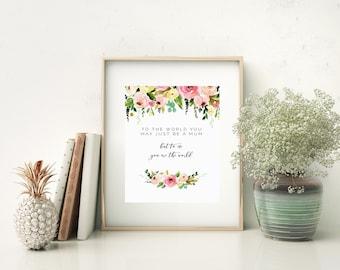 Mum 'World' print