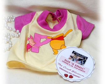 DOGGIE'S (X SMALL)  SHIRT . . From Baby Clothes . . . (Custom Clothes Orders Welcome)