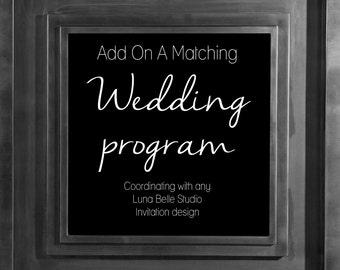 Custom Printable Wedding Programs