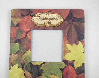 Thanksgiving frame-hostess gift-Thanksgiving picture frame-custom picture frame-Thanksgiving Decor-Fall Decor-Thanksgiving Decorations