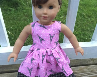 Eiffel Tower sundress for American Girl Dolls