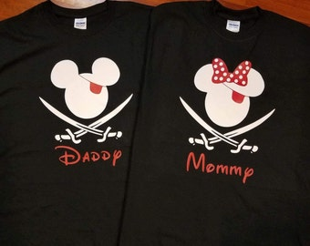 Disney Inspired Pirate Matching tshirts Great for Disney  Cruise or Vacation, fast shipping!