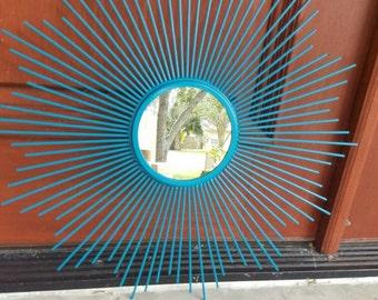 On Sale Starburst Mirror / Retro / Atomic / Mid Century Modern Decor / Gold Mirror / sunburst/ MCM/ vintage