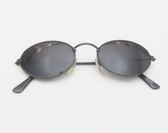 "Rare 90's Vintage ""ONYX"" John Lennon Style Oval Sunglasses"
