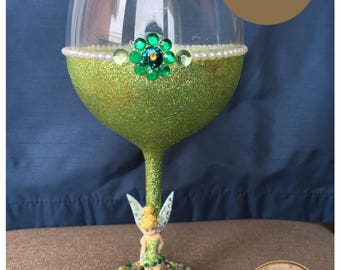 Disney's Tinker Bell Glitter Wine Glass
