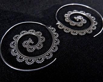 filigree Spiral Creoles