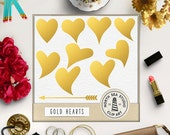 Gold Heart Clipart, Gold Foil Hearts, Valentine Hearts, Valentine's Day, Valentine Clipart, Commercial Use, Coupon Code: BUY5FOR8
