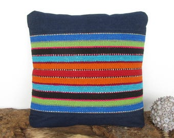 Gift for new House, opening House Blue pillow, gift Peruvian, this House. cushion azul(16x16 pulg.) (40x40cm) CR-289