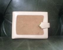 Vintage Billfold, Suede Wallet, Vintage Wallets, Taupe Wallet, Billfolds, Leather Billfold, Leather Wallet, Women's Wallets, Amity Wallets