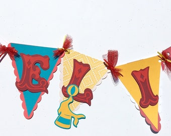 Carnival name banner, circus name banner, carnival decorations , curcus decorations