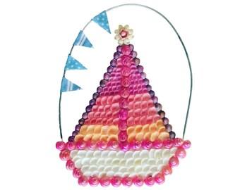 Sailboat Seashell Sailor's Valentine's Style