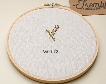 WILD modern embroidery