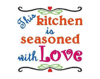 Seasoned with Love Machine Embroidery Design