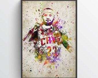 LeBron James Poster, LeBron James Print, LeBron James Art, LeBron James Decor, Home Decor, Gift Idea
