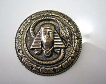 Vintage Look Revival Oxidized Brass King Tut Brass King Tut Pharaoh Cameo Brass Stamping 45mm (1 pc) 47V5