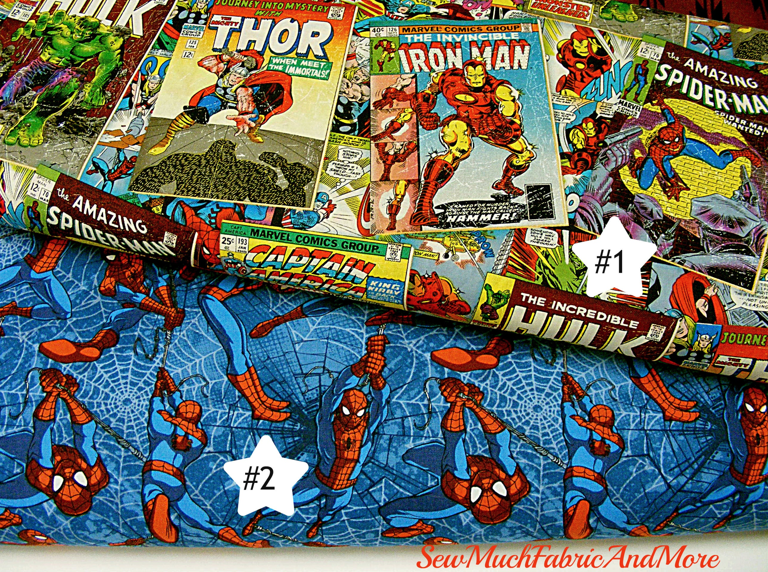 Fabric Book Covers Canada : Comic book covers spiderman fabric by the yd designs