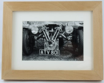 Morgan classic car photo in hand-made hardwood museum quality frame