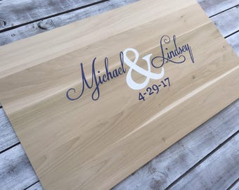New Wedding Guest book Alternative, Wooden Guestbook wood sign with Pen. Signature board for Wedding gift idea